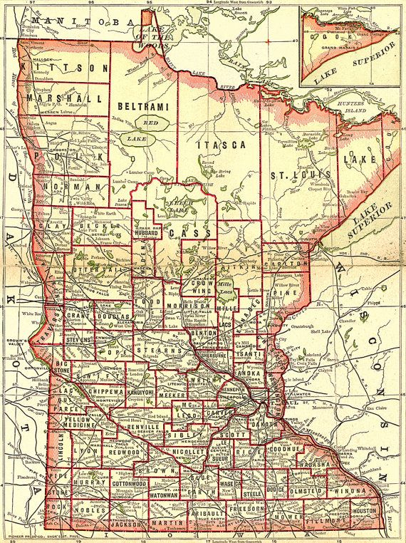 Minnesota map 1893 maps Pinterest Minnesota