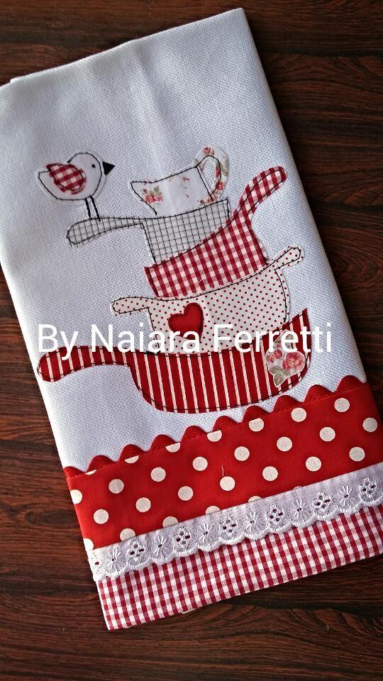 Toallas de cocina patchwork pinterest toallas de - Patchwork para cocina ...