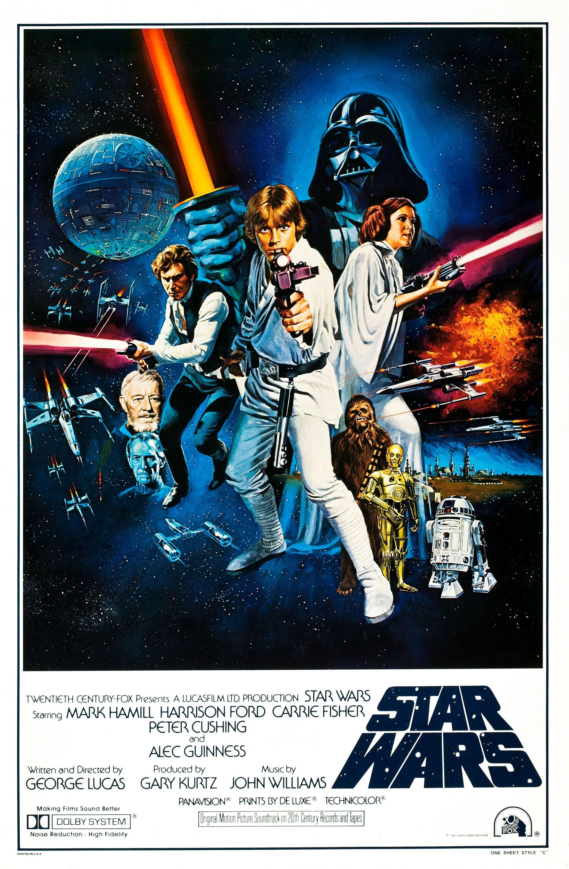 Star Wars 1977 Poster Restoration Performed By Darren Harrison Star Wars Movies Posters Star Wars Episodes Star Wars Episode Iv