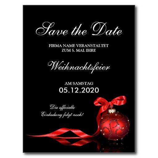 Einladung Weihnachtsfeier Firma.Geschäfts Weihnachtsfeier Einladung Save The Date Zazzle De