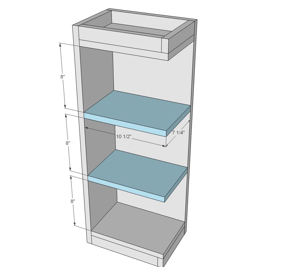 Open Shelf End Wall Cabinet Kitchen Wall Cabinets Open Shelving Diy Cabinets