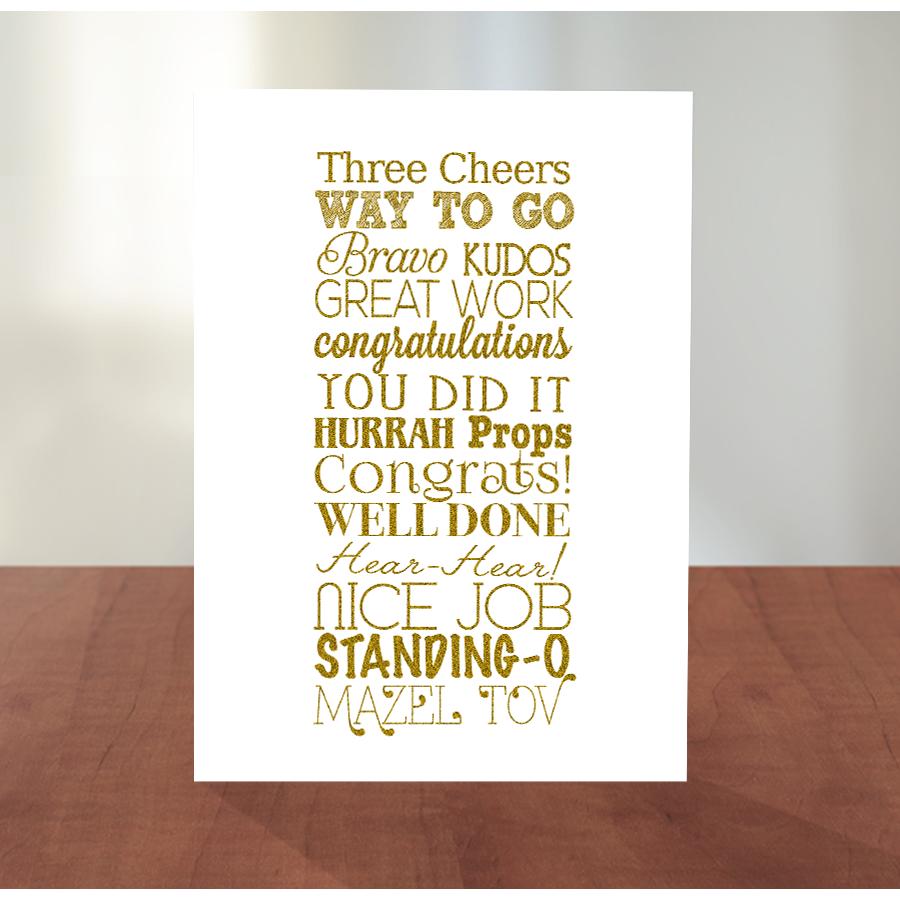 Golden Congratulations Greeting Card Congratulations Greetings