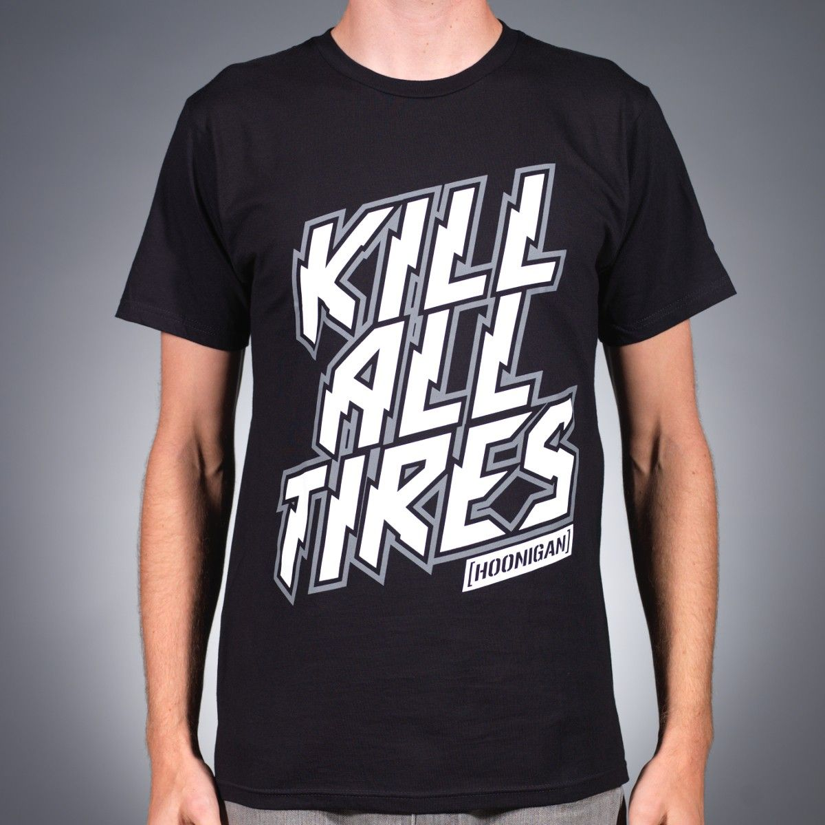 Hoonigan Tire Slayer Short Sleeve Graphic Youth T-Shirt Perfect for Car and Drifting Enthusiasts Available in Small to 3X Mechanics and Gear Heads