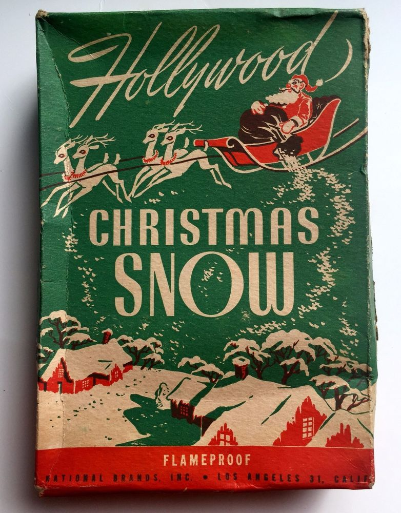 Vintage 1940-1950s Unopened Box of Hollywood Christmas Snow