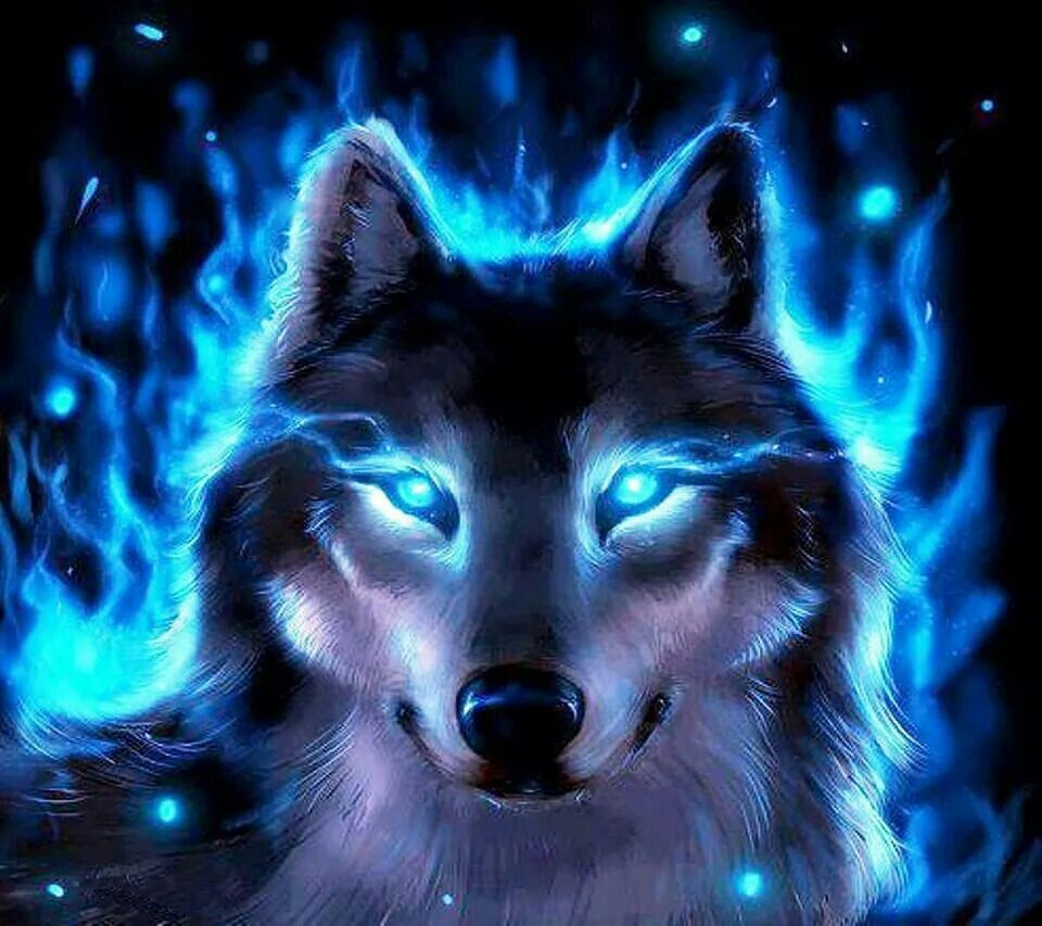Cool Flame Wolf Wolf Background Wolf Spirit Animal Wolf Wallpaper
