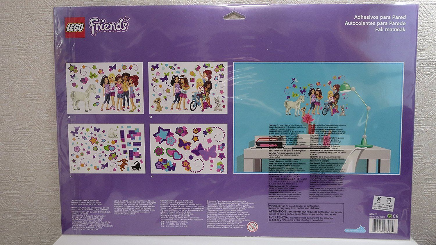 Lego Friends Wall Stickers 851417 Amazon.ca Toys & Games