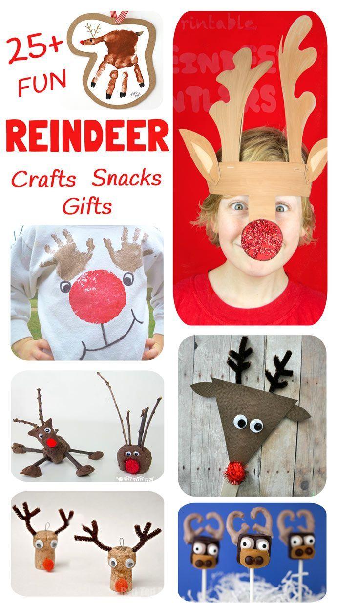 Reindeer Crafts, Activities, Snacks and Gifts | Basteln kinder ...