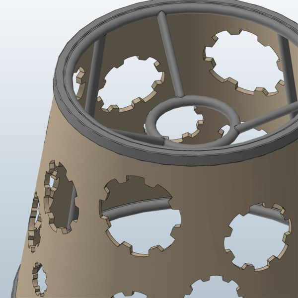 Steampunk Lampshade - Gear (3D Models)