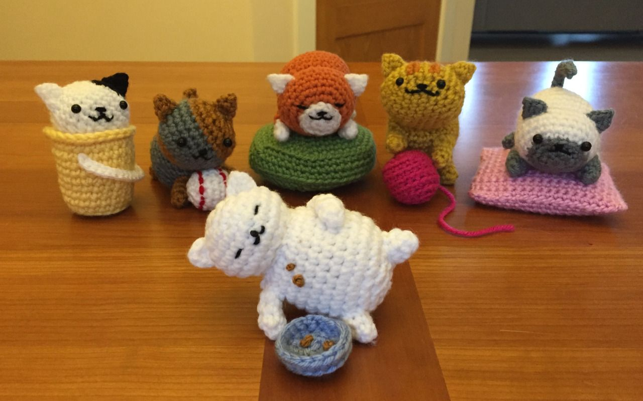 Amigurumi Neko : Neko Atsume cats Tubbs, Spots, Spooky, Ginger,... - Tami ...