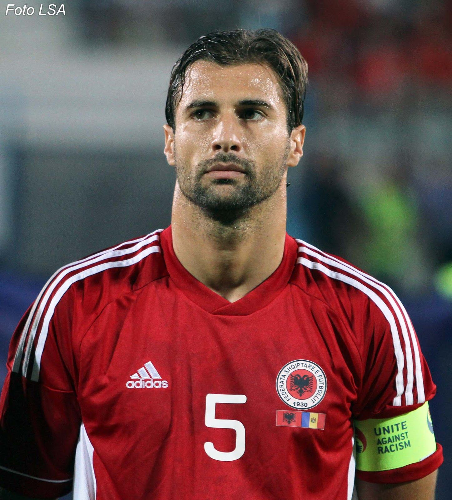 Lorik Cana Albania. Captain of the national team, a