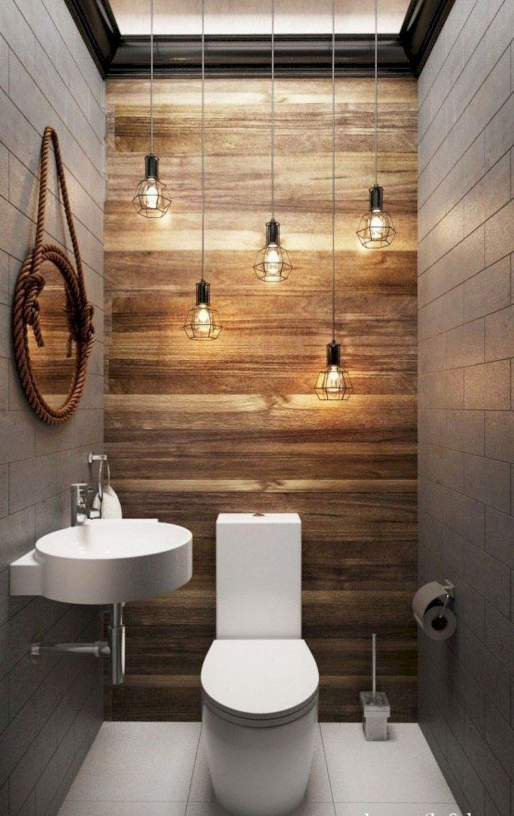 10+ Inspiring Small Bathroom Design Ideas With Wood Decor To