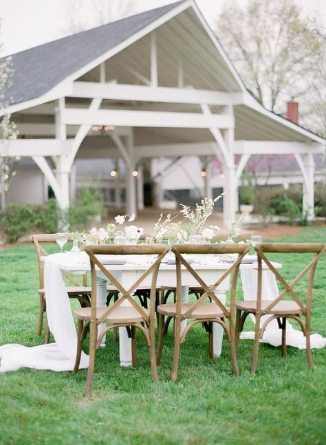 Outdoor spring tablescape: http://www.stylemepretty.com/2016/05/02/spring-into-wedding-season-with-this-inspiration/   Photography: Julie Paisley - http://juliepaisley.com/