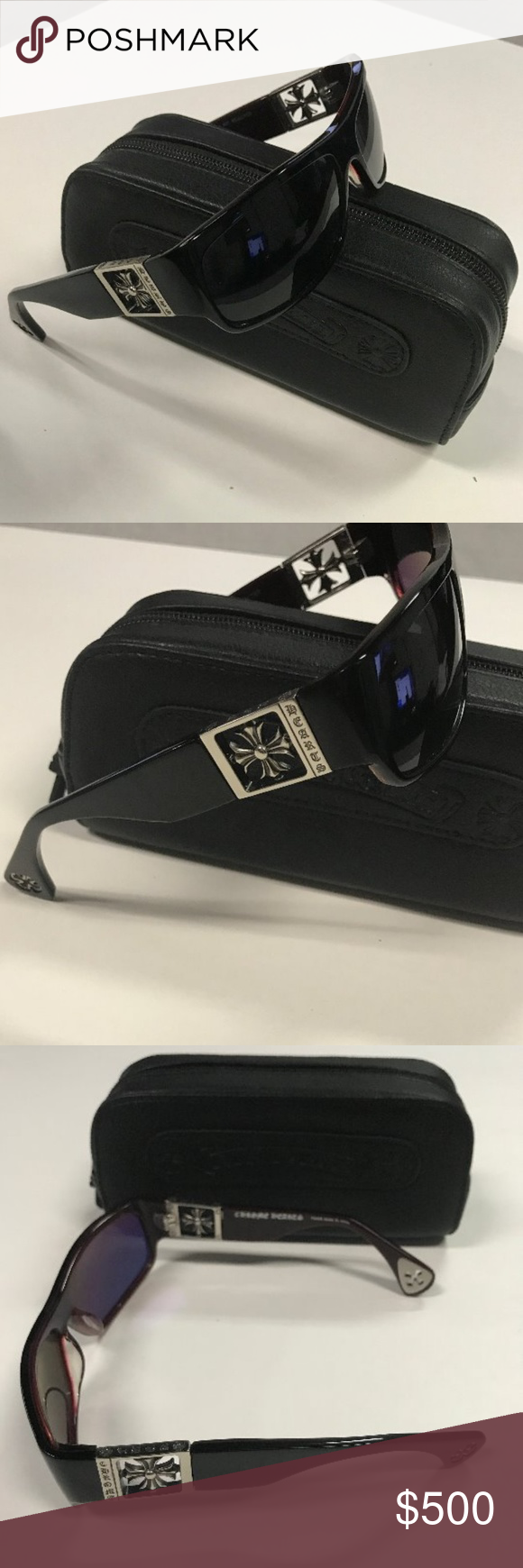 da50de9421bc Chrome Hearts Mens Sunglasses Rejected Black Purchased from Aspen Optical  boutique in Las Vegas. Chrome