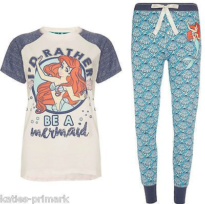 fc854fa69d Primark señoras Ariel La Sirenita Pijama separa O Conjunto T Pijamas in  Ropa