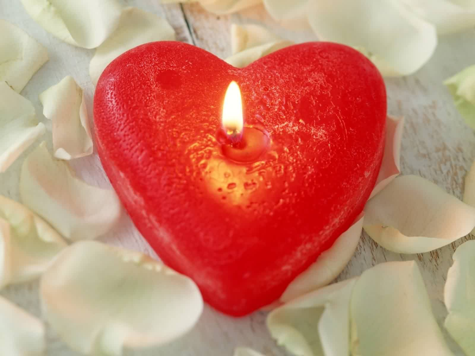 LoVE Color Red | red color heart candle wallpaper