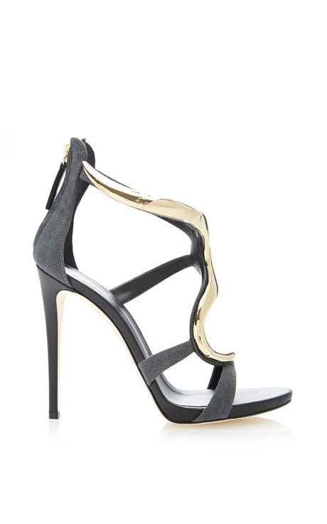 f2bbd9ca1000f Alien Metallic-Effect and Leather Sandals by Giuseppe Zanotti Now Available  on Moda Operandi