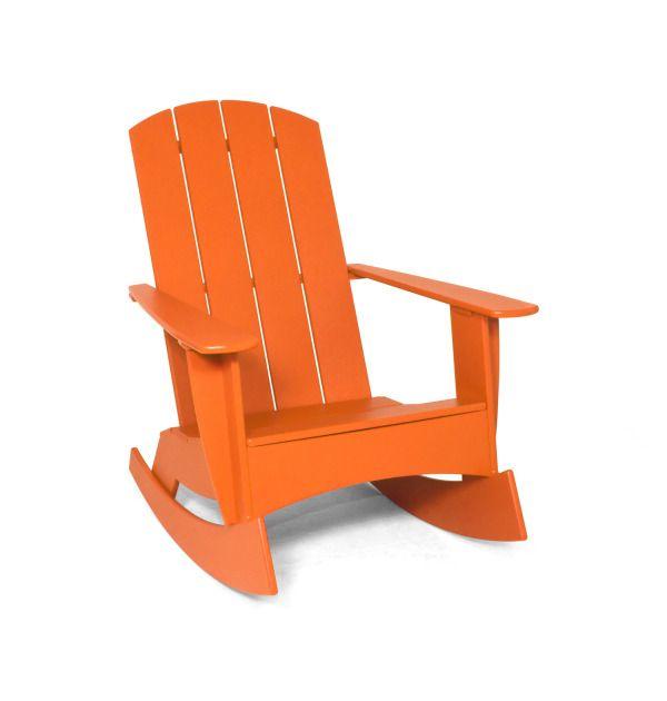 Curved Rocking Plastic Adirondack Chair Loll Designs Plastic Outdoor Furniture Adirondack Chair Modern Plastic Outdoor Furniture