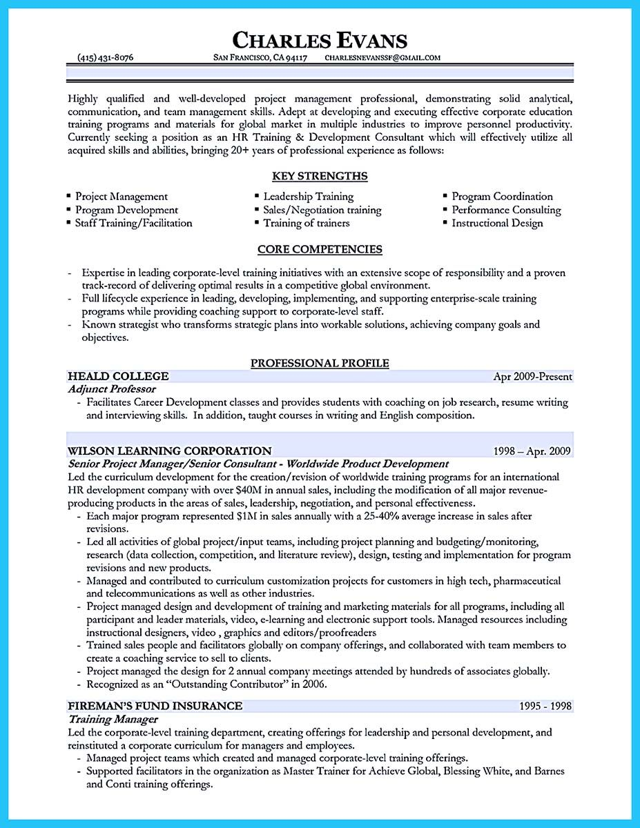 Awesome Brilliant Corporate Trainer Resume Samples To Get Job Check More At Http Snefci Sample Resume Cover Letter Cover Letter For Resume Training Manager