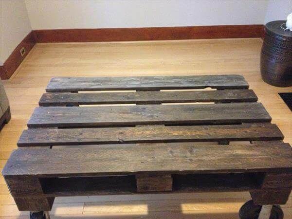 Recycelte Paletten Couchtisch #recyceltepaletten Recycelte Paletten Couchtisch - Recycelte Paletten Tabelle   #Palettentisch #recyceltepaletten