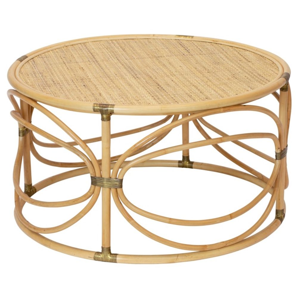 Maricel Coastal Beach Natural Brown Rattan Round Round Coffee Table Coffee Table Coffee Table Design Rattan Coffee Table [ 1000 x 1000 Pixel ]