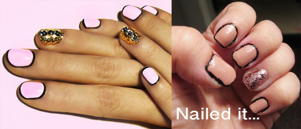 Border Nail Art Fail Nail Inspiration Pinterest Border Nails