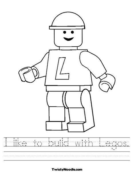 Lego Worksheet from TwistyNoodle.com | CSCT Summer program | Pinterest
