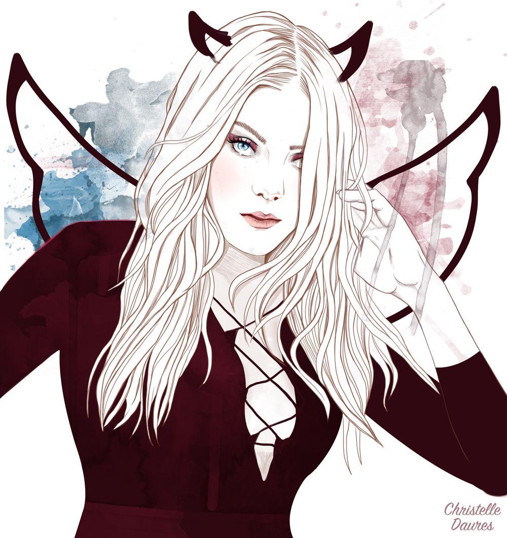 Christelle daures illustration demon dessin fille rebelle angel belle blog crecre - Dessin de demon ...