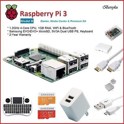 Raspberry pi 3 model b - starter, #media #center, premium