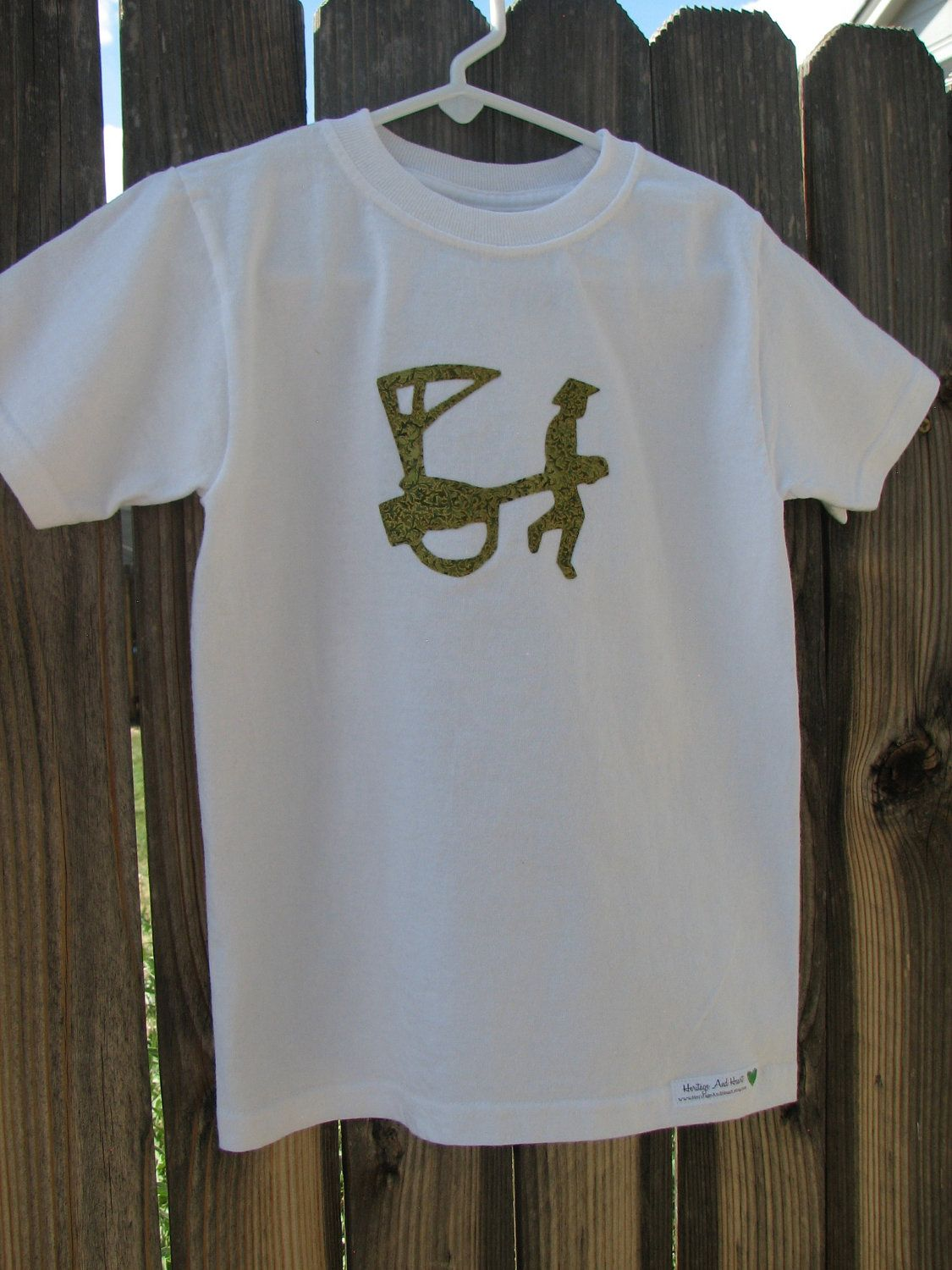 ASIA Applique Tee... Asian Man with Rickshaw... ready to