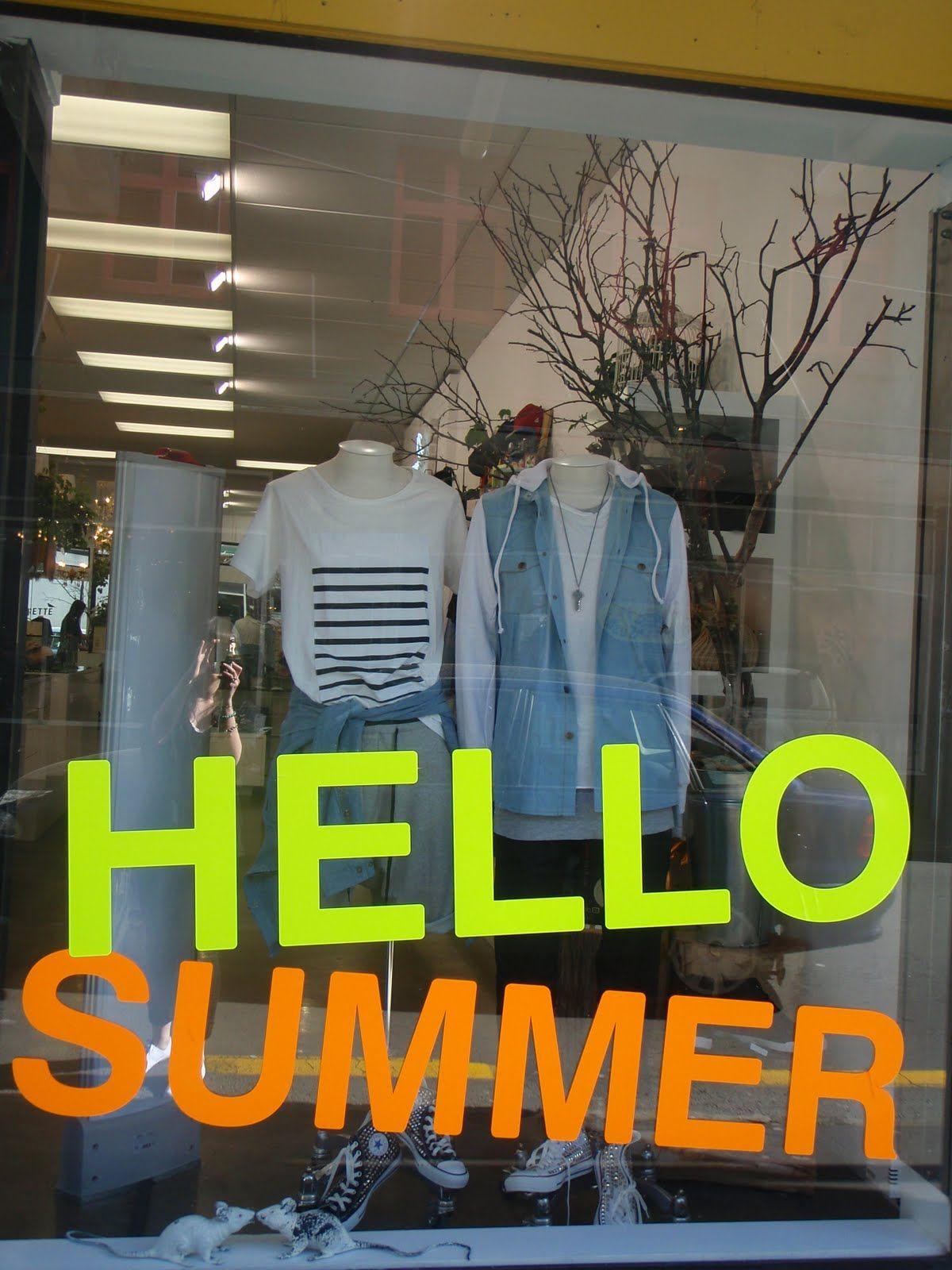 Summer 2011 window display store display marketing for Retail store window display ideas