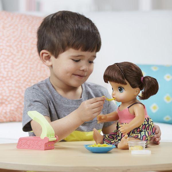 29 60 Baby Alive Super Snacks Snackin Noodles Baby Brunette Hasbro Jouet Jeux