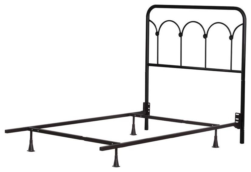 Hillsdale Furniture Jolene Metal Bed Textured Black