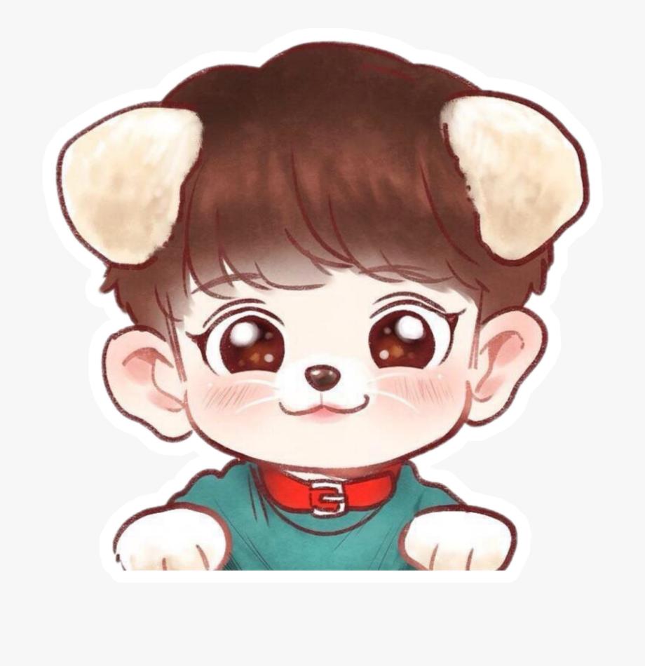 Doge Face Png Kpop Chibi Drawings Cliparts Cartoons Jing Fm Chibi Exo Chibi Chanyeol Cute