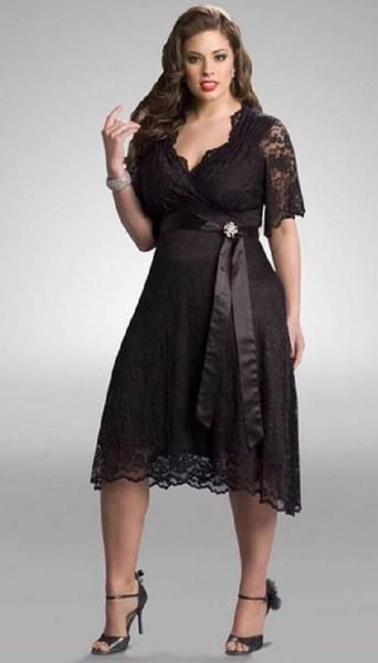 Vestido barato plus size black
