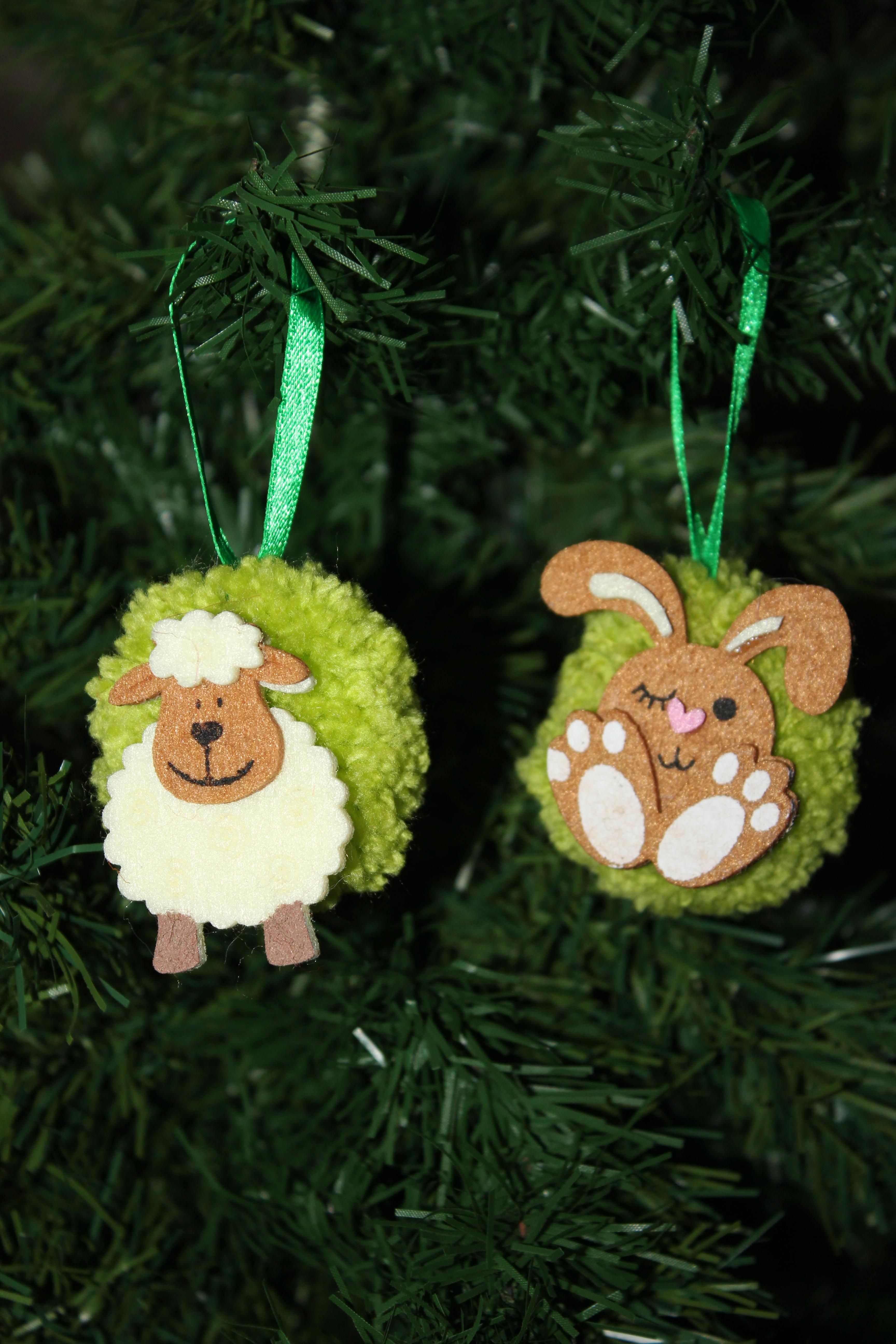 Pom Pom Decoration By The Woolly Sprite Hanging Ornaments Pom Pom Decorations Ornaments
