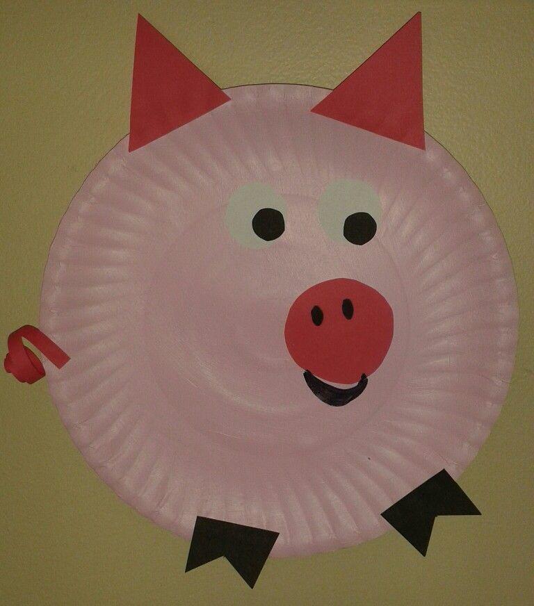 Pink Pig Paper Plate Craft Homeschool 2017 Pinterest Paper