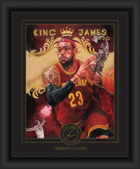 LeBron James Framed Justyn Farano Digital Print - Cleveland ...