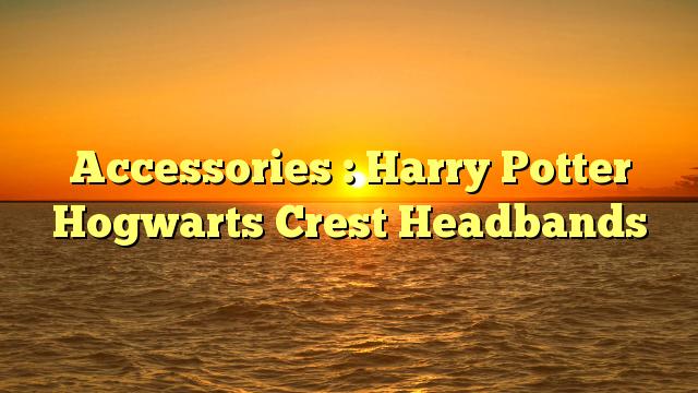 Accessories : Harry Potter Hogwarts Crest Headbands - http://4gunner.com/accessories-harry-potter-hogwarts-crest-headbands/