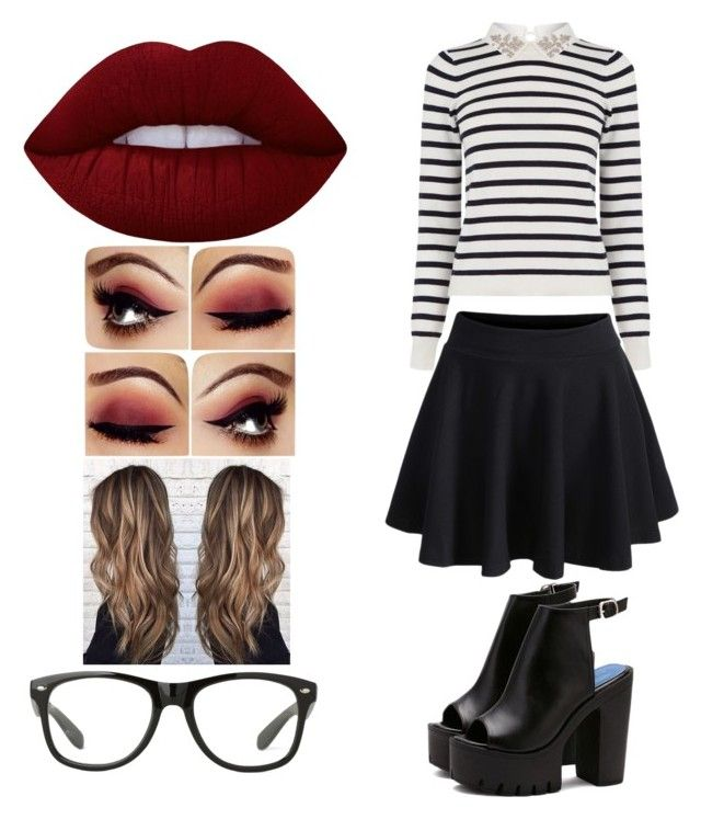 """""""classy"""" by linaresyari on Polyvore featuring Oasis, WithChic and Lime Crime"""