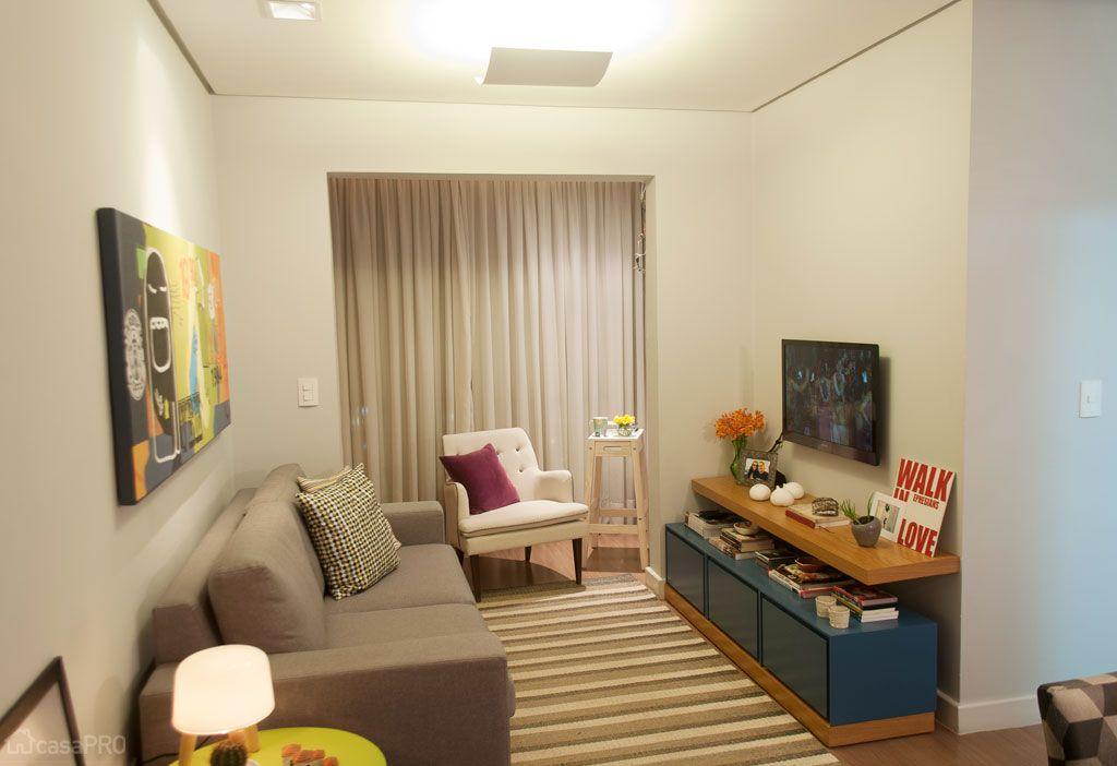 68 salas de estar pequenas projetadas por profissionais de for Sala design for small house