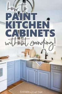 Best How To Paint Kitchen Cabinets Without Sanding Repainting 400 x 300