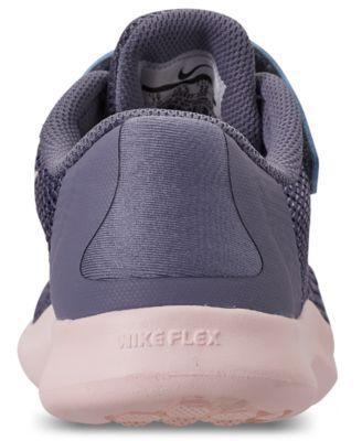 9b70b9fdda241 Nike Toddler Girls' Flex Run 2018 Adjustable Strap Running Sneakers from  Finish Line - Blue 11