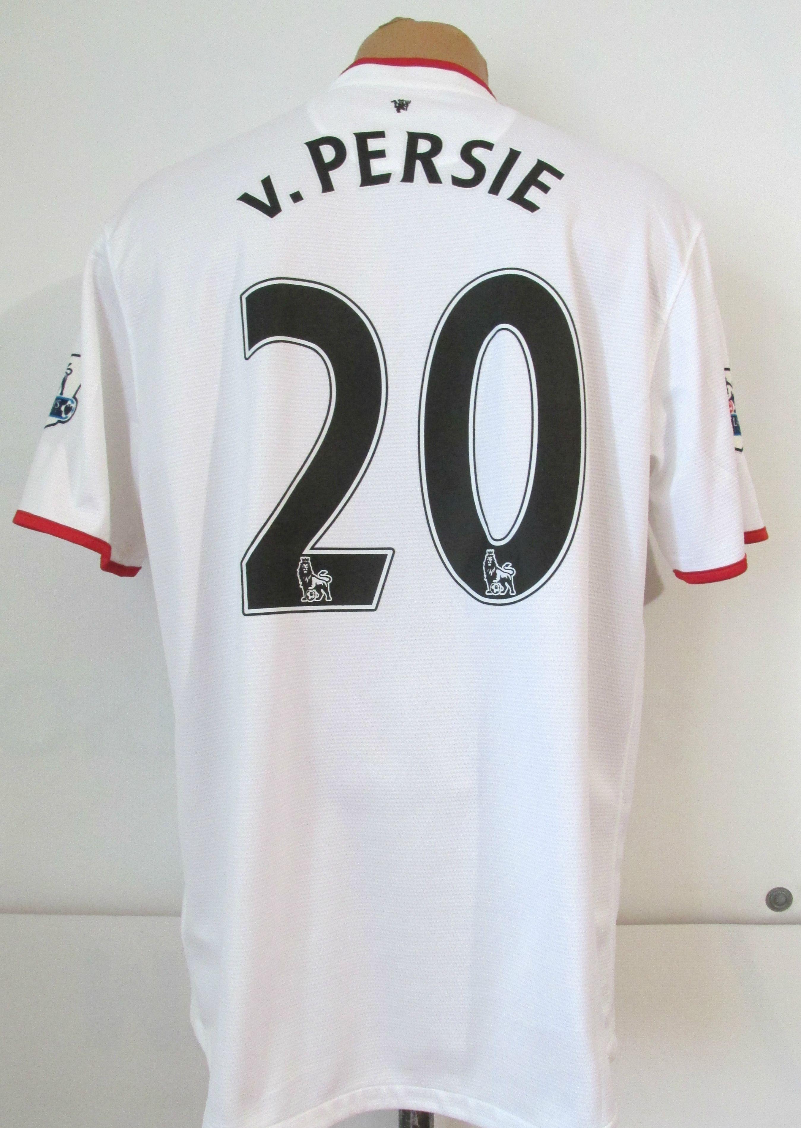 817d549f6 Manchester United 2012 2013 2014 away football shirt Robin van Persie  20  by Nike MUFC ManUnited RedDevils PremierLeague England soccer jersey white  ...