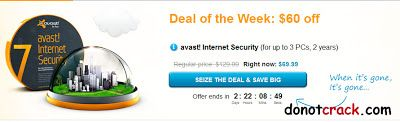 [Discount] Avast Internet Security 7 60$ OFF | 3PC - 2 year