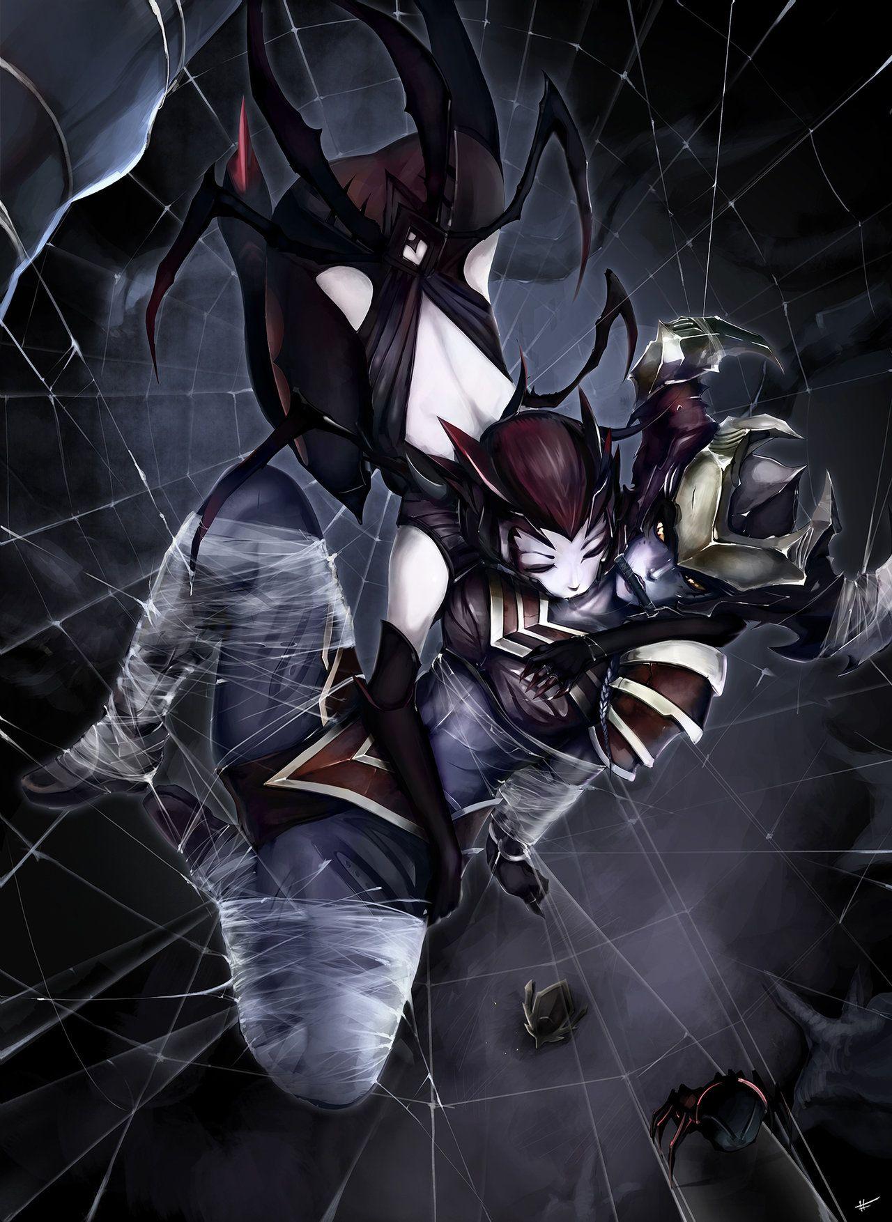 Elise Shyvana By Sharpffffff League Of Legends League Lol