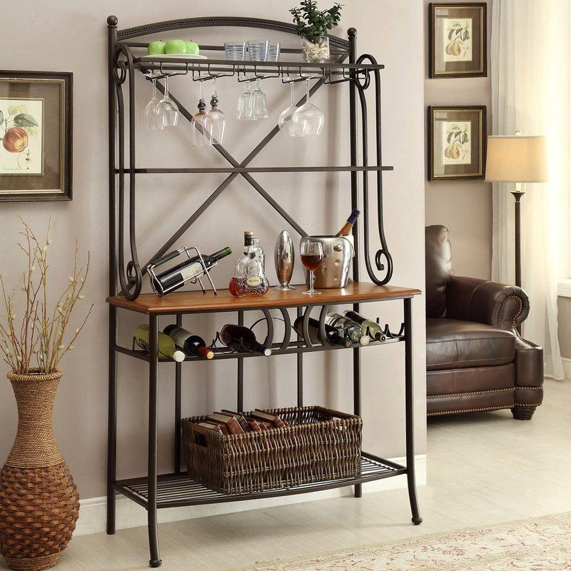 Haubstadt Iron Baker S Rack Bakers Rack Living Room Sets