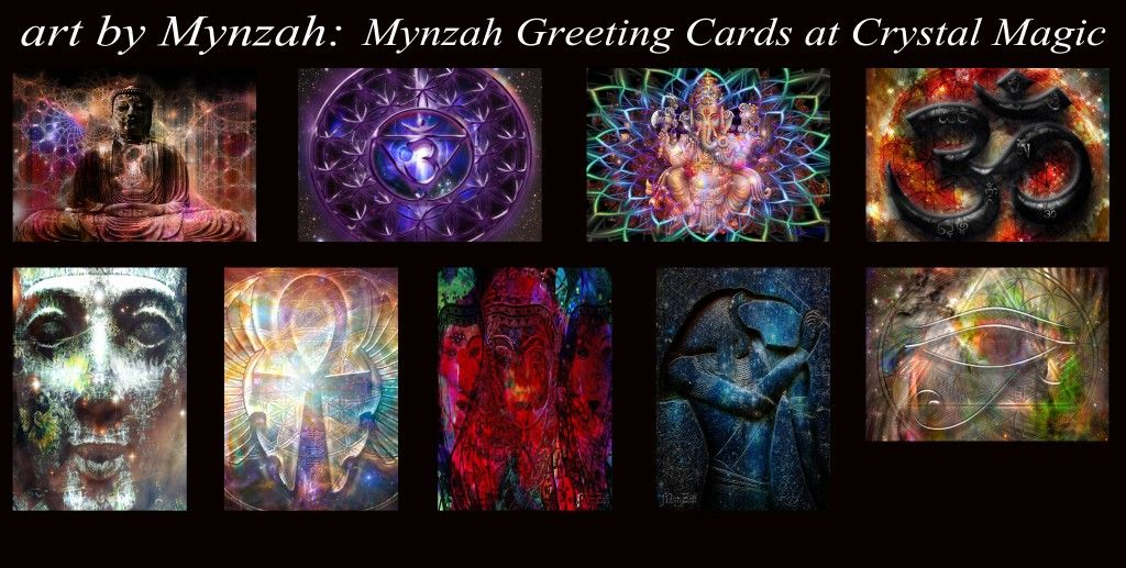 Crystal Magic of Sedona, AZ is now displaying 21 pieces of my art in greeting card form.  Crystal Magic offers a wide variety of gifts for everyone on your list, they have crystals, gifts, books, jewelry, home decor, candles, bath and body products, and knick knacks to your hearts desire! ~ Mynzah ~  https://www.facebook.com/CrystalMagicFlagstaff  www.mynzah.com