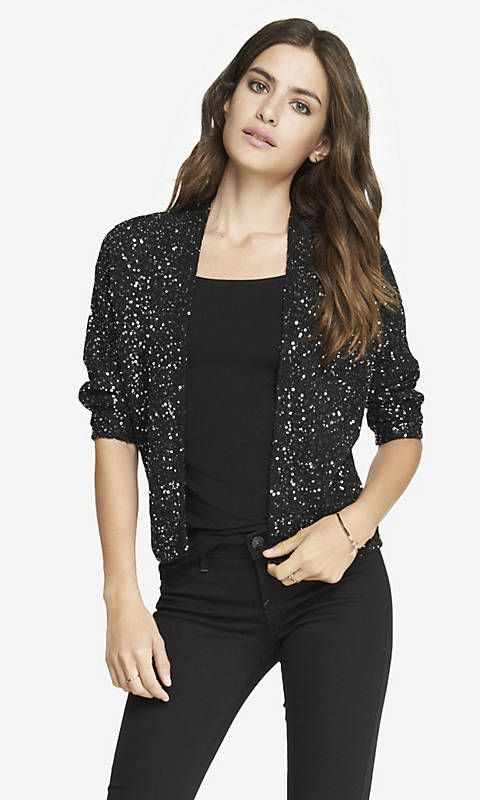 SEQUIN DOLMAN COVER-UP SWEATER | Express | Fashion 5 | Pinterest ...