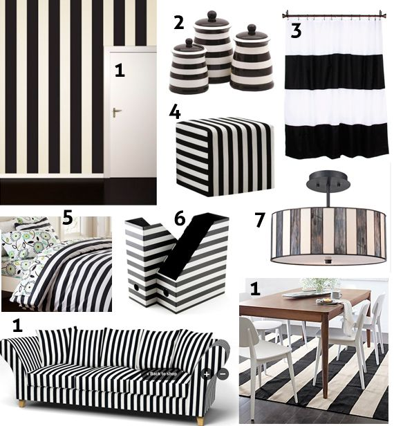 Black And White Stripe Decor