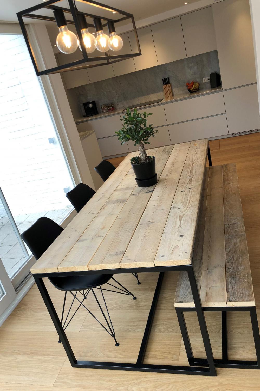 23 Trending Wood Design Simple And Easy Holztisch Diy Holztisch Stahltisch